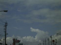 砺波市からの空 梅雨明けか?