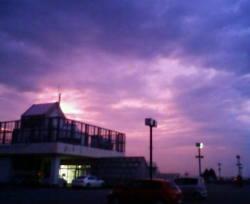 南砺市アスモの夕暮れ