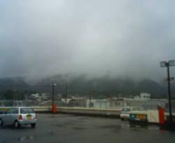 アスモC朝、屋上パーキングから