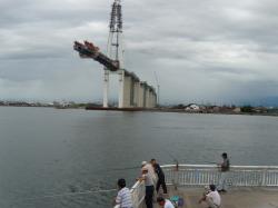 富山新港は釣堀です。