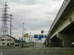 国道8号線下田、高新大橋ランプ