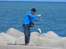 富山湾の釣り人