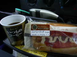 朝食はコーヒー&ドック