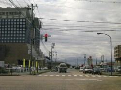 富山市中央市場入り口交差点