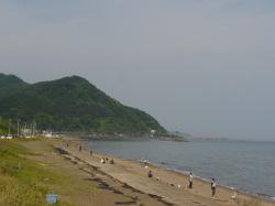 上越の海岸端