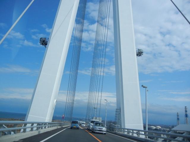 新湊大橋の橋上