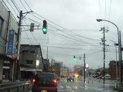 台風接近中、大門町経由で富山マイプラザへ